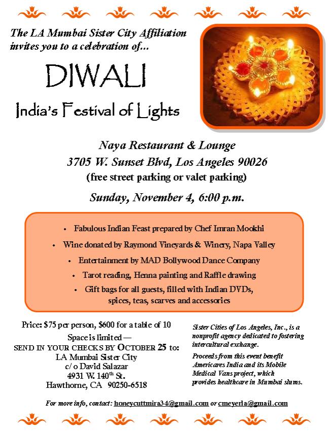 Diwali india festival of lights in naya restaurant lounge los the la stopboris Gallery